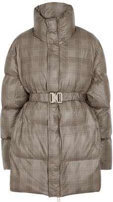 Rains Checked Quilted Shell Coat
