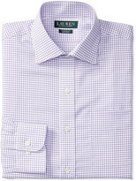 Lauren Ralph Lauren Men's Warren Classic-Fit Non-Iron Lilac and White Tattersall Check Dress Shirt