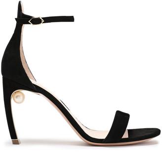 Nicholas Kirkwood Embellished Suede Sandals
