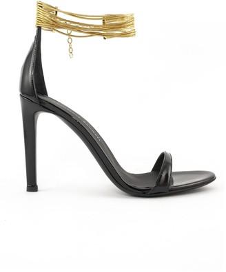 Giuseppe Zanotti Kay Black Patent Leather Sandals