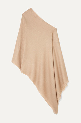 Brunello Cucinelli Sequin-embellished Knitted Poncho - Beige