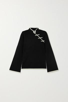 Madeleine Thompson Castor Two-tone Cashmere Sweater - Black