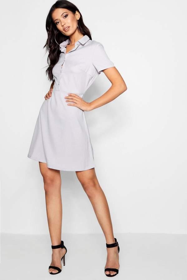 boohoo Button Down Shirt Dress