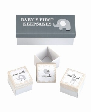 Lillian Rose Set of 3 Baby's First Keepsakes Boxes