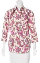 Robert Graham Floral Print Button-Up Top