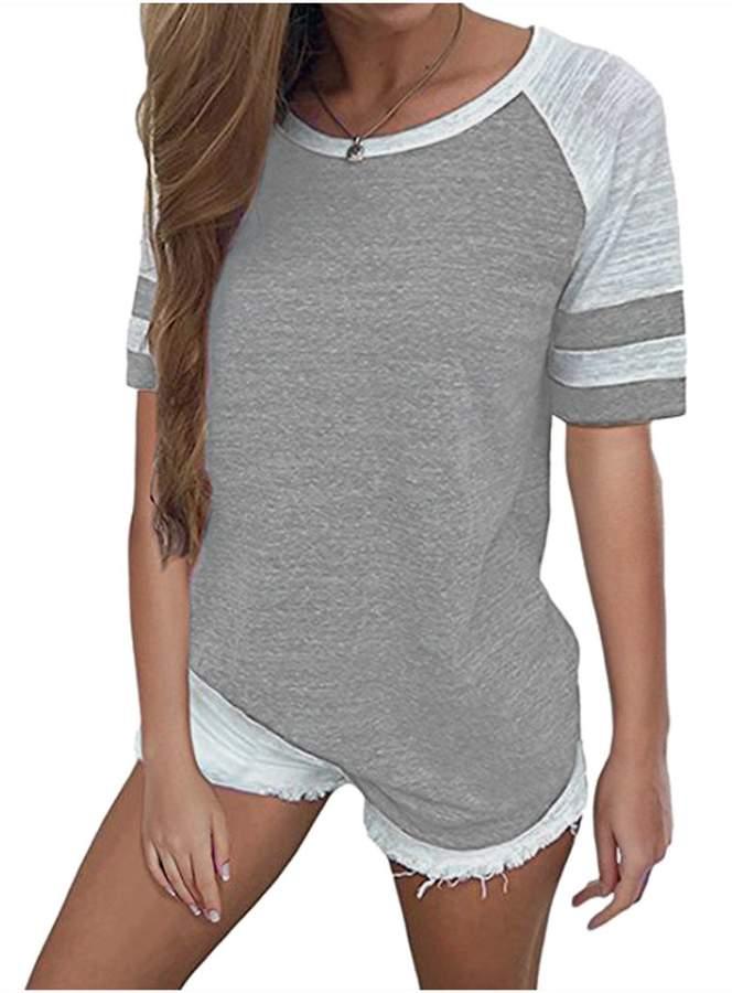 0f2004d8e87 Grey Raglan Sleeve T Shirts For Women - ShopStyle Canada