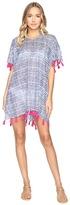 Hat Attack Tassel Cover-Up Blurry Stripe Women's Swimwear