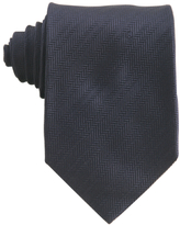 dark blue chevron stripe silk tie