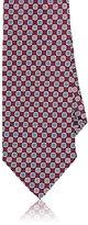 Barneys New York Men's Floral Medallion Silk Necktie-BURGUNDY