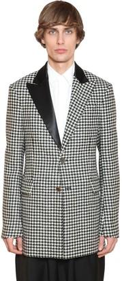 Loewe 2bt Wool Houndstooth Tuxedo Jacket
