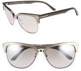 Tom Ford Women's 'Fany' 59Mm Retro Sunglasses - Black/ Rose Gold/ Grey Lenses