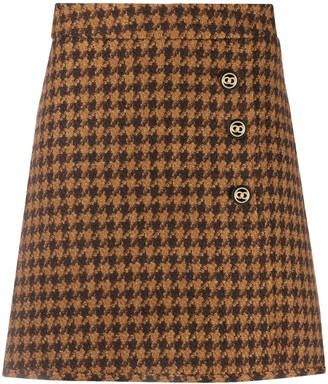 Sandro Paris Houndstooth Mini Skirt