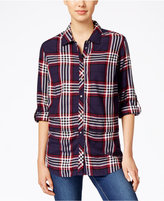 KUT from the Kloth Plaid Button-Front Shirt