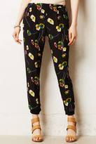 Anthropologie Elevenses Tapered Flora Trousers