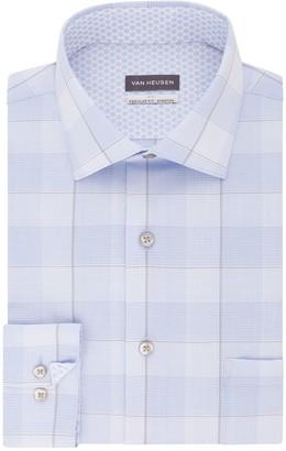Van Heusen Men's Air Fitted Spread-Collar Dress Shirt