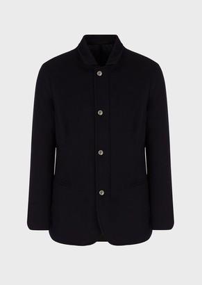 Giorgio Armani Slim-Fit Jacket In Water Repellent Cashmere