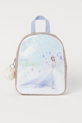 H&M Glittery Printed Backpack - Blue