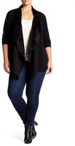 Bobeau Fleece Drape Jacket (Plus Size)