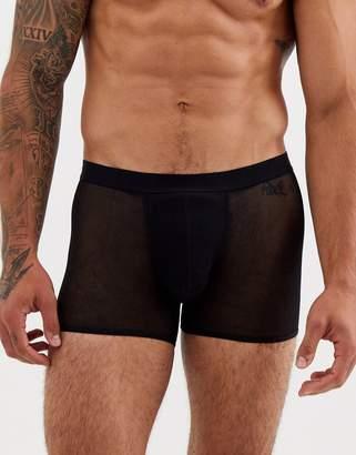 Asos Design DESIGN trunk in black mesh