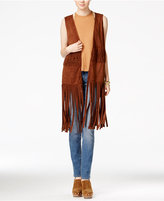 American Rag Fringe Faux-Suede Vest, Only at Macy's