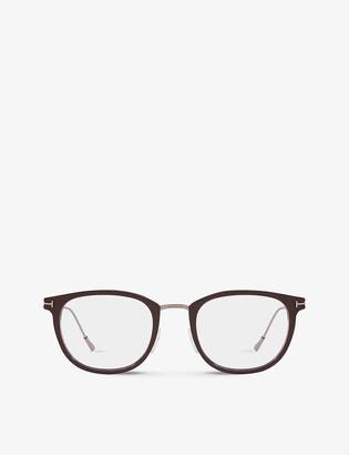 Tom Ford FT5612-B acetate square-frame optical glasses