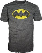 Bioworld Batman Brushed Logo Heathered Mens Heather Grey T-Shirt L