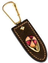 Gucci Embellished Leather Keychain