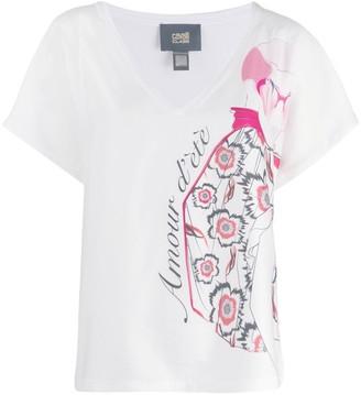 Class Roberto Cavalli printed V-neck T-shirt