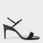 Paul Smith Women's Black Leather 'Nyla' Heeled Sandals