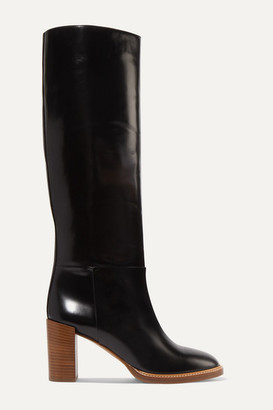Gabriela Hearst Bocca Leather Knee Boots - Black