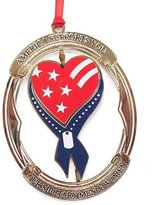 """Baldwin """"America Supports You"""" Military Brass Ornament -2"""