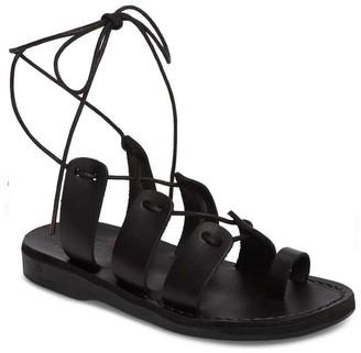 Jerusalem Sandals Women's Leather Sandals withLace-up Closure