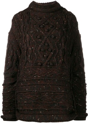 Jean Paul Gaultier Pre Owned '1990s Cable Knit Sweater