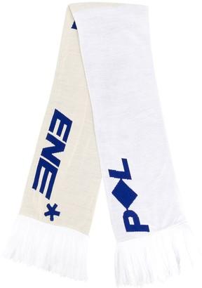 Polythene* Optics oversized logo scarf