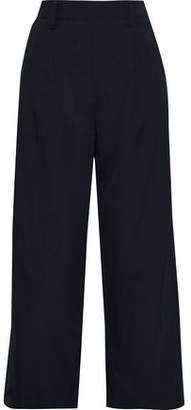 Vince Cropped Cotton-poplin Wide-leg Pants