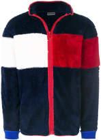 Tommy Hilfiger zipped fluffy logo jacket