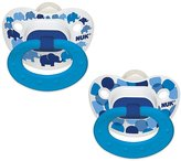 NUK Orthodontic Trendline BPA Free 18+ Months Dots Pacifiers (2pack) Boys Colors
