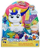 Play-Doh Tootie the Unicorn Ice Cream Set with 3 Non-Toxic Colours Featuring Colour Swirl Compound
