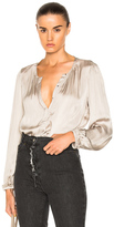 Raquel Allegra Poet Blouse in Gray.