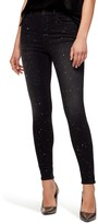 Sanctuary Social Standard High Waist Metallic Fleck Skinny Jeans