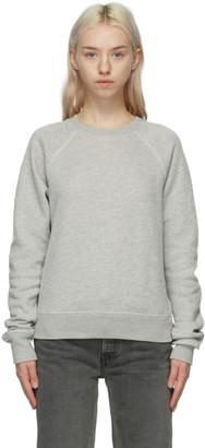 RE/DONE Grey Hanes Edition Classic Raglan Sweatshirt