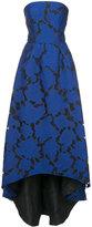 Oscar de la Renta embroidered brocade high-low gown