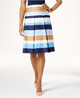 Charter Club Cotton Striped Skirt, Only at Macy's