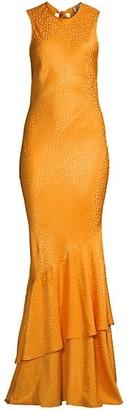 Rebecca Vallance Isabella Leopard Print Maxi Dress
