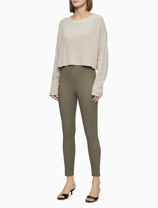Calvin Klein Modern Comfort Solid Zip Ankle Pants