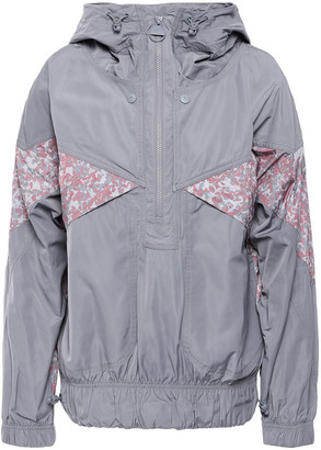 adidas by Stella McCartney + Adidas Printed Washed-shell Hooded Jacket