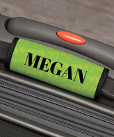 Personalized Planet Luggage Tags - Green 'Enjoy The Journey' Personalized Luggage Handle Wrap