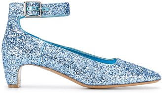 Maison Margiela glitter court pumps