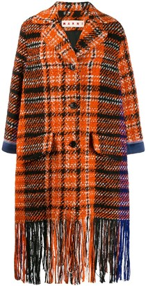 Marni Plaid Fringe Coat