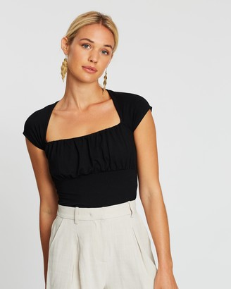 MinkPink Madelyn Ruched Bust Top